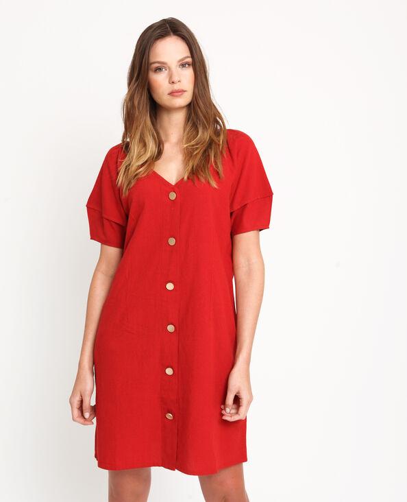 Robe boutonnée rouge