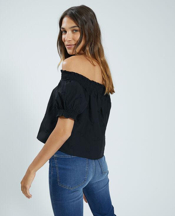 Geborduurde blouse zwart - Pimkie