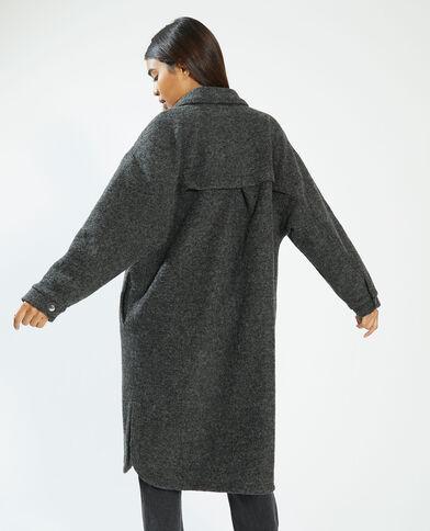 Surchemise longue oversize gris - Pimkie