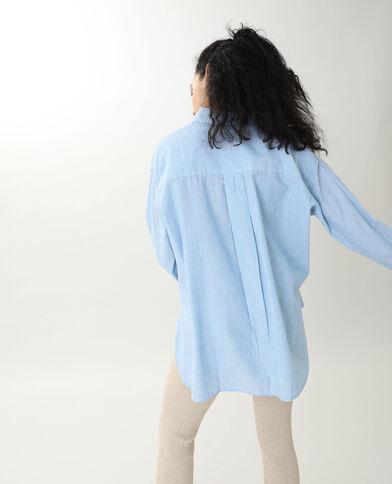 Lang hemd hemelsblauw