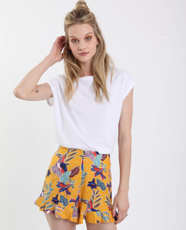 T-shirt à manches tombantes blanc