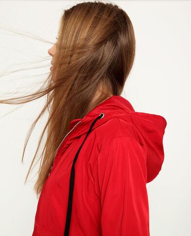 Windjack met kap rood