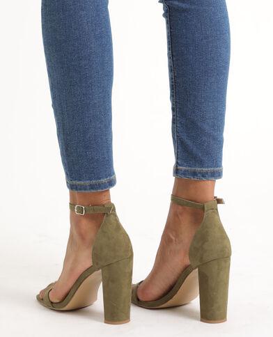 Sandales à talons kaki