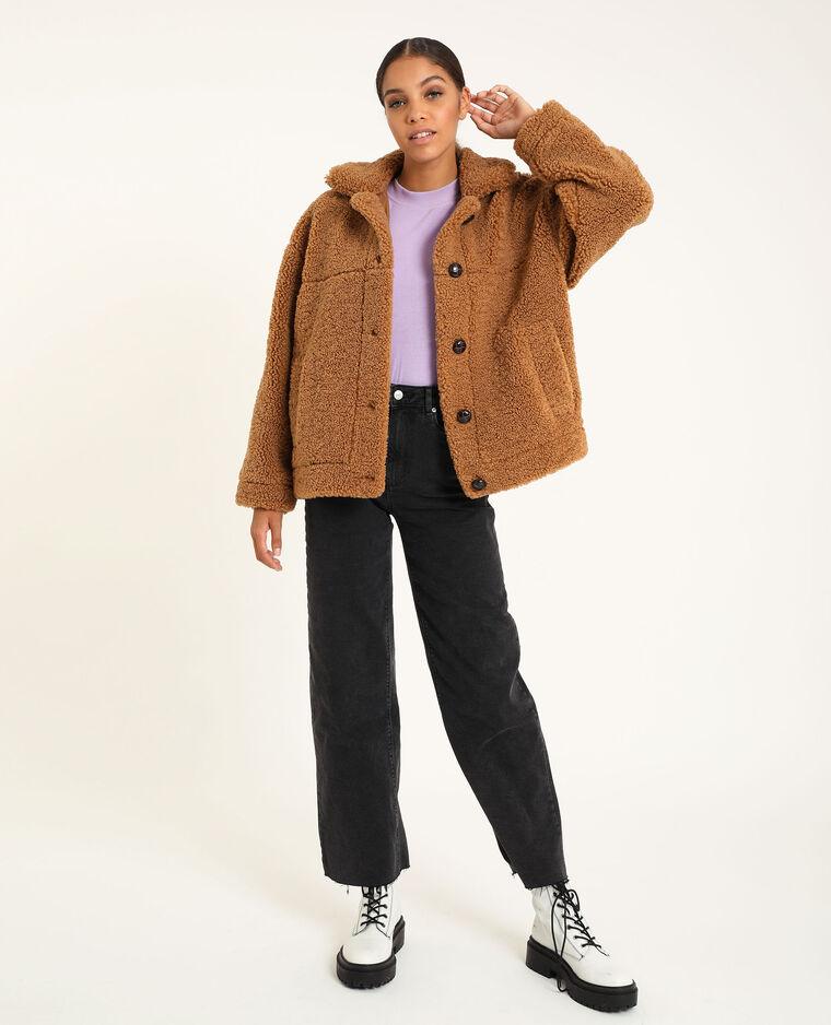 Veste en doudou marron - Pimkie