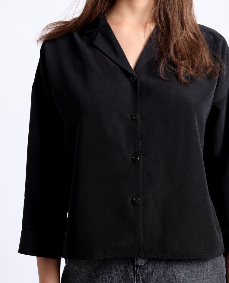 Chemise courte noir