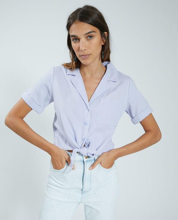 Cropped blouse vioolpaars - Pimkie