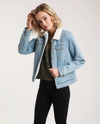 Gevoerd jeansjasje blauw