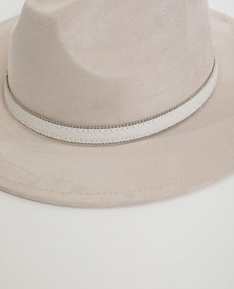 Suèdine hoed wit - Pimkie