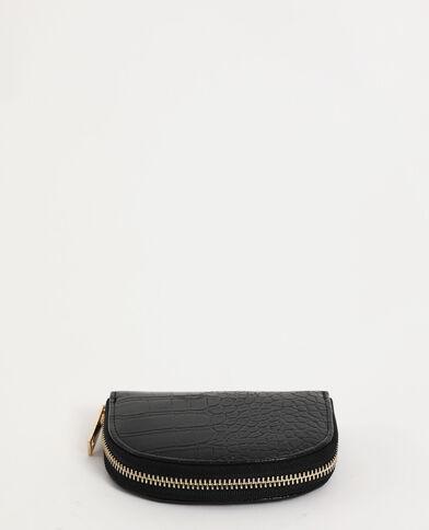 Portemonnee met krokodillenmotief zwart