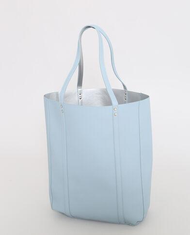 Omkeerbare shopper blauw