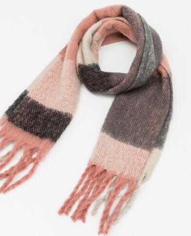 Warme sjaal roze