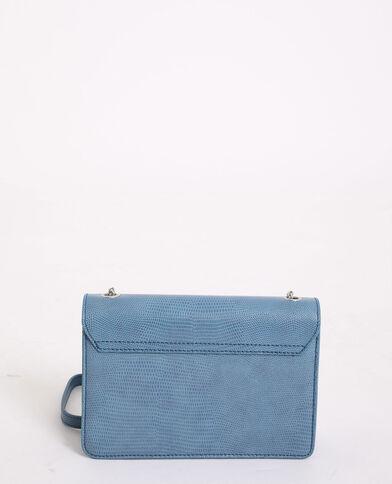 Tasje van kunstleer blauw