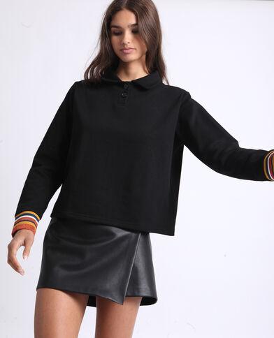 Sweater met polokraag zwart