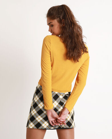 Cropped top jaune