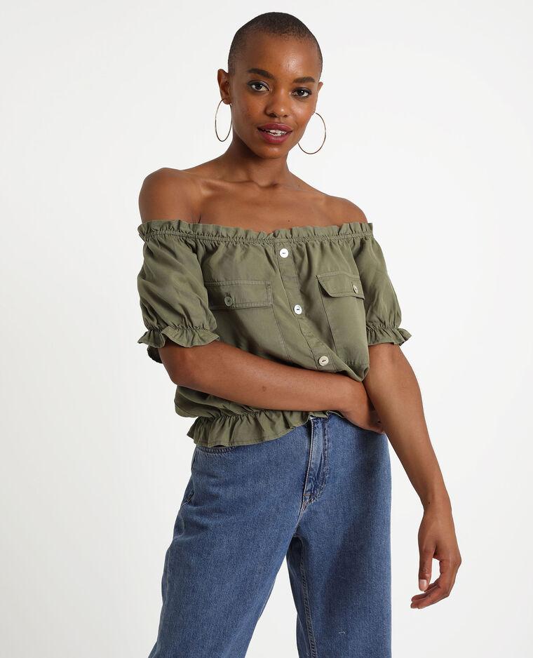 Korte blouse groen