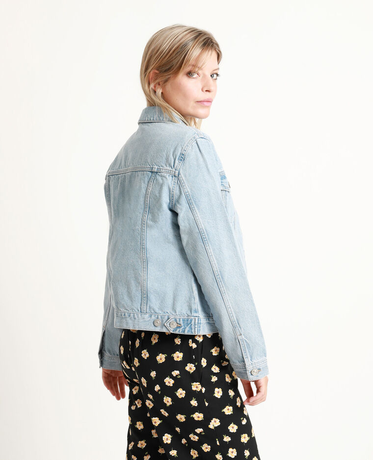 Veste en jean bleu