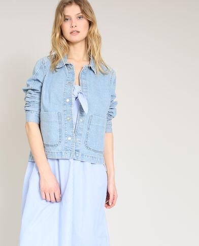 Jeansvest blauw