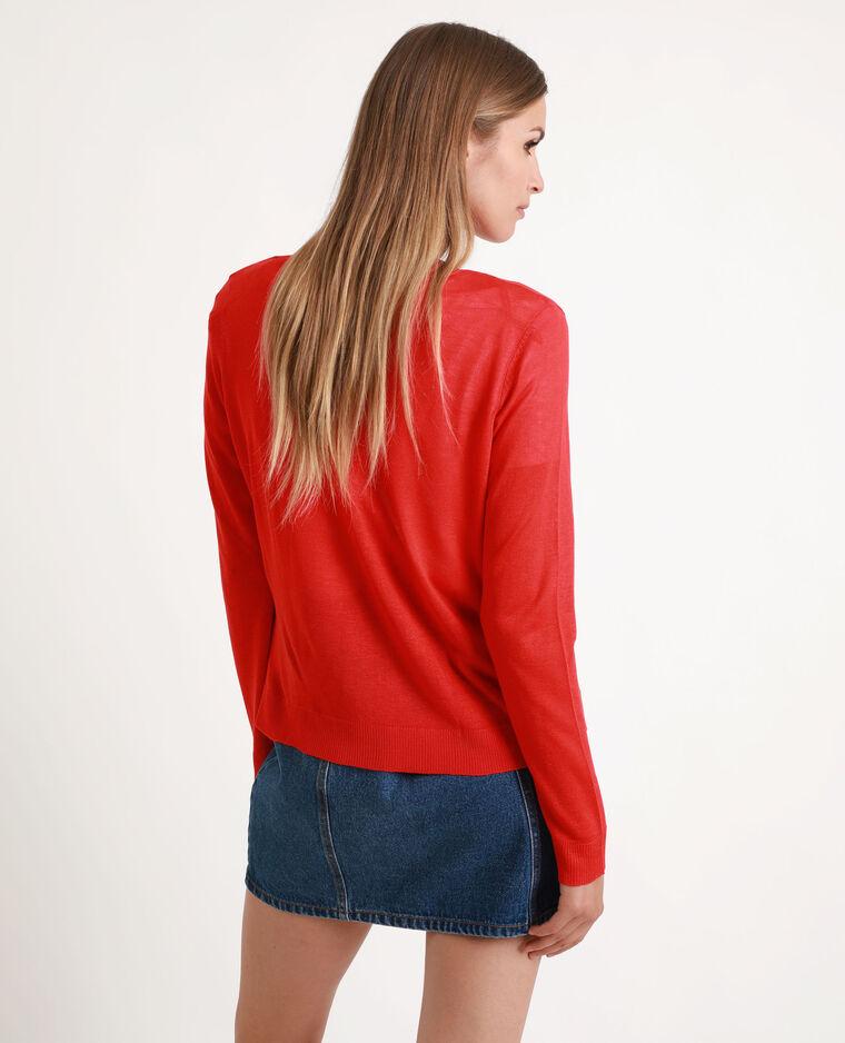 Vest van fijn tricot rood