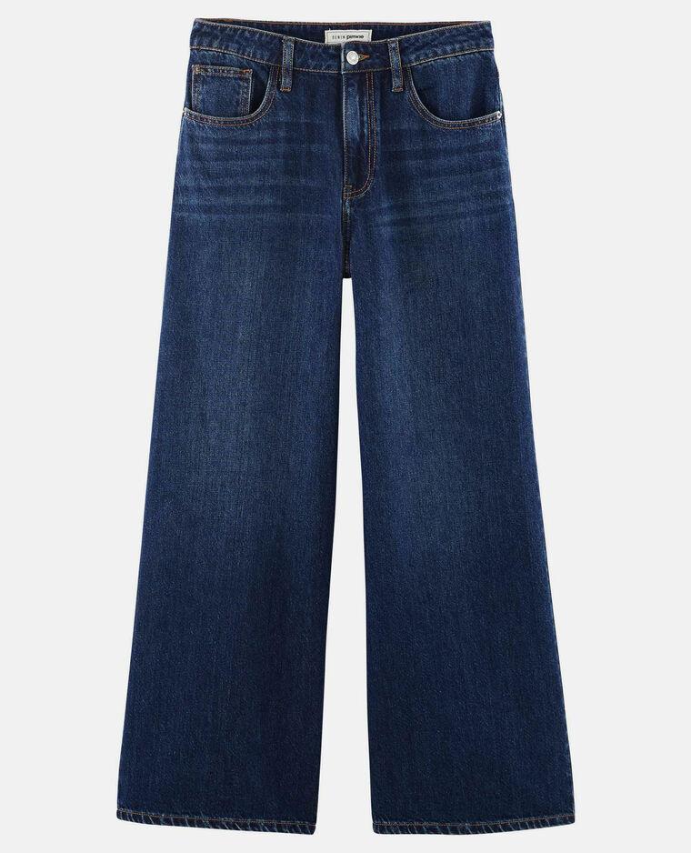 Jean wide leg bleu foncé