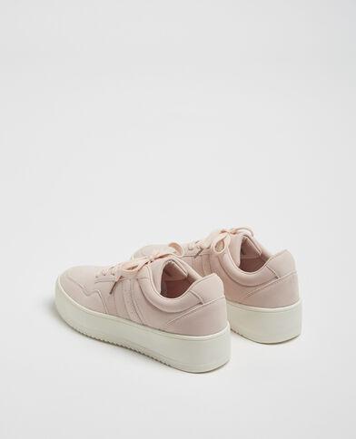 Baskets plateforme rose nude