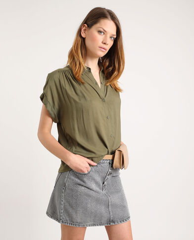 Hemd met korte mouwen groen