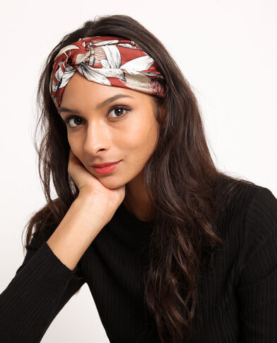 Headband fleuri rouille