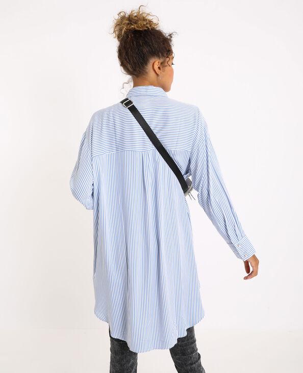 Oversized hemd met strepen blauw