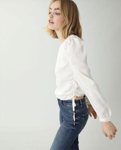 Satijnachtige blouse gebroken wit - Pimkie