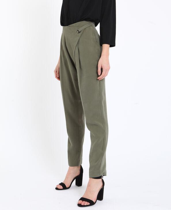Soepelvallende broek groen