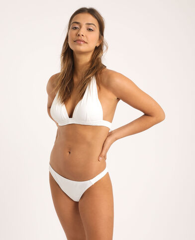 Driehoekige bikinitop wit