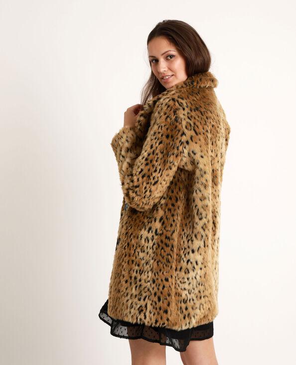 Manteau léopard caramel