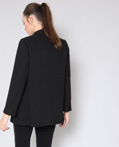 Glanzende blazer zwart