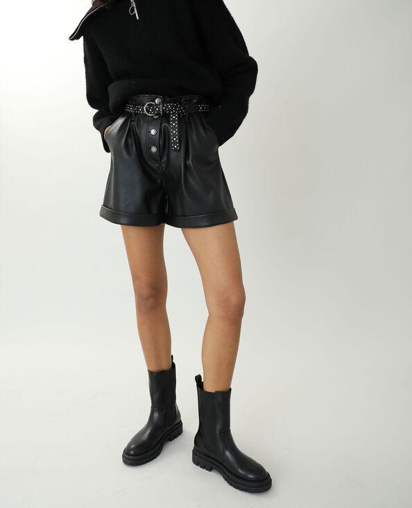 Short en simili cuir noir - Pimkie