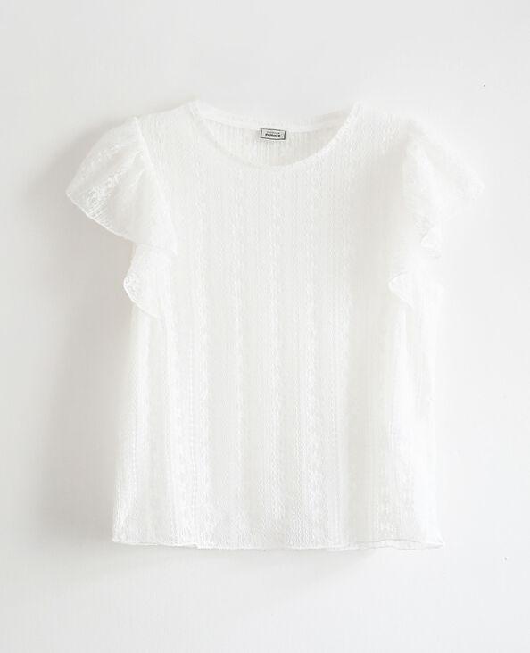 Kanten T-shirt gebroken wit - Pimkie
