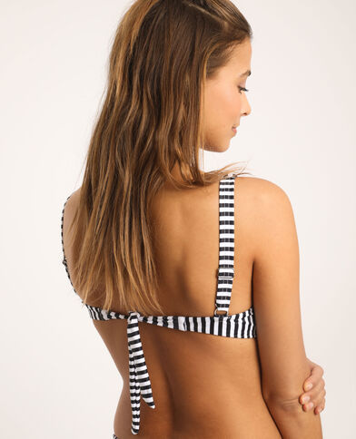 Bikinitop met strepen wit
