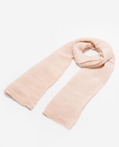 Sjaal van plisséstof bleekroze