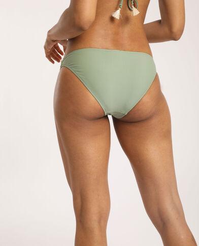 Bas de bikini à broderies vert clair