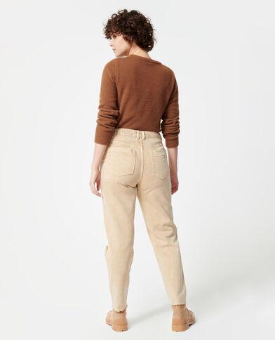 Getrashte mom jeans ecru - Pimkie