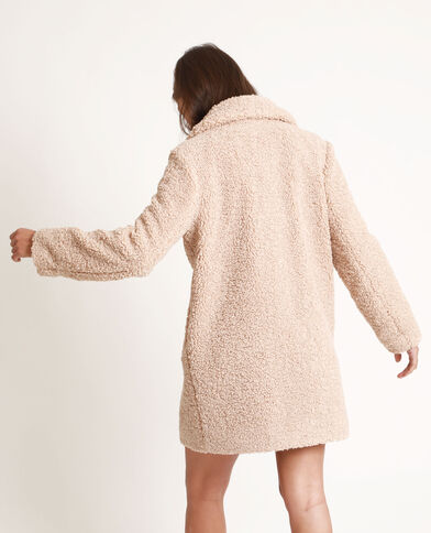 Manteau imitation mouton caramel