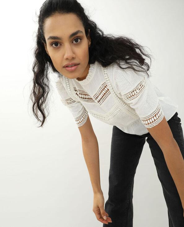 Opengewerkte blouse gebroken wit - Pimkie