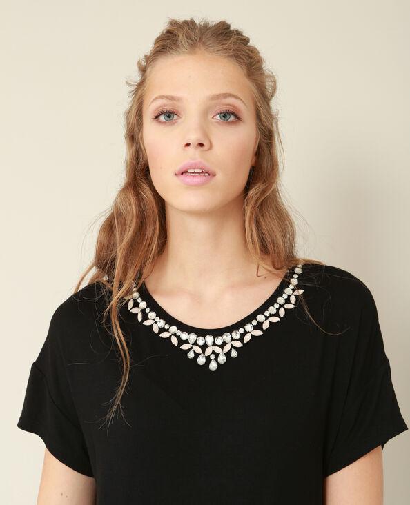 T-shirt bijoux noir