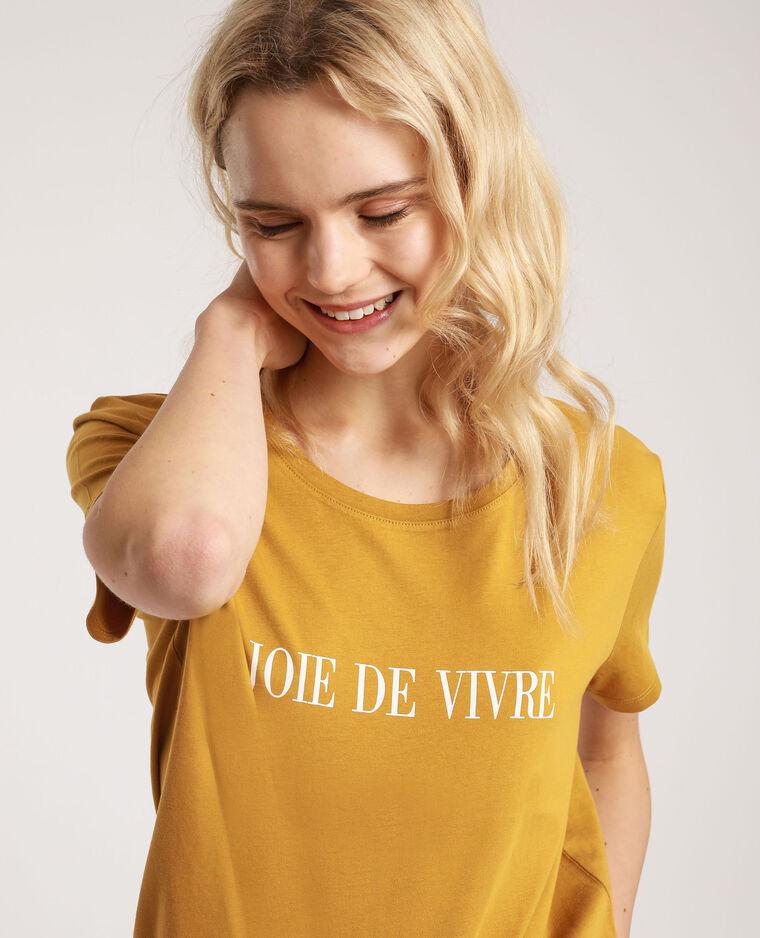 T-shirt à message cassonade