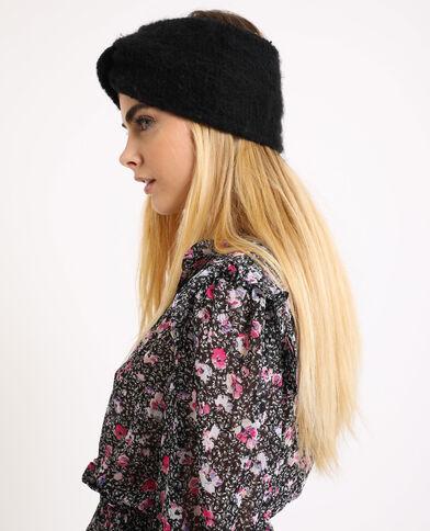 Haarband van tricot zwart