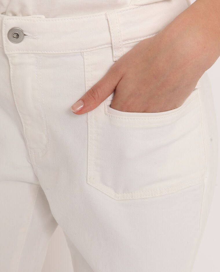 Pantalon flare écru