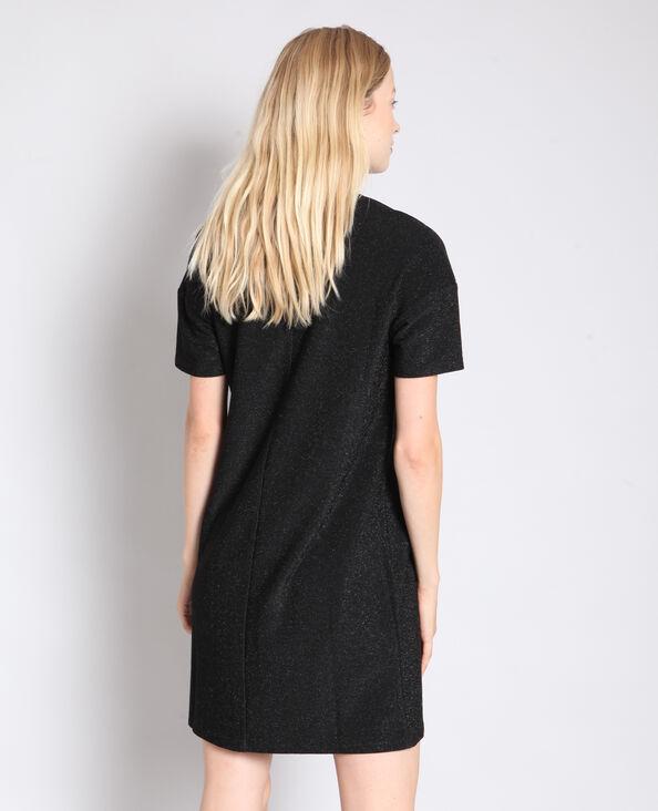 Robe métalisée à message noir