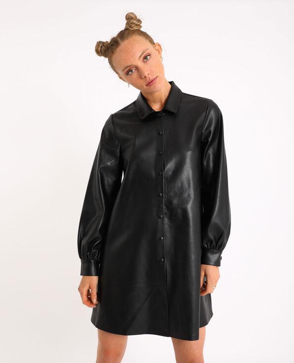 Robe simili cuir noir