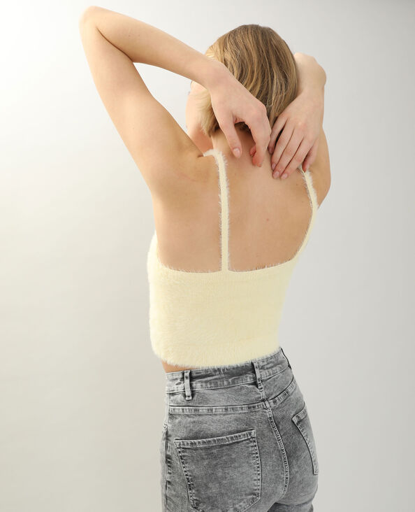 Behatop van zacht tricot bleekgeel - Pimkie
