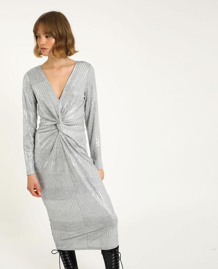 Robe nouée gris