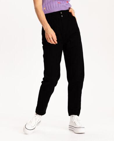 Jean paper bag noir - Pimkie
