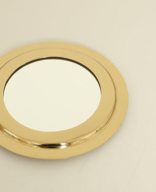 Rond spiegeltje goudkleurig